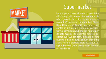 Supermarket Conceptual Banner Illustration