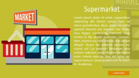 Supermarket Conceptual Banner Stock fotó - 64588850