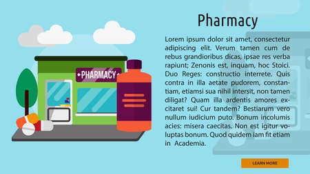 botle: Pharmacy Conceptual Banner Illustration