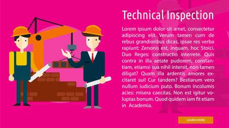 Technical Inspection Conceptual Banner Ilustração