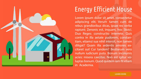 Energy Efficient House Conceptual Banner