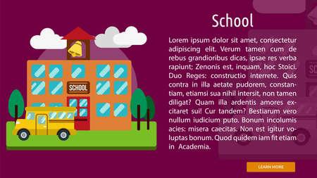 School Conceptual Banner 版權商用圖片 - 64588865