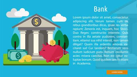 銀行概念バナー