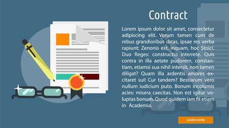 Contract Conceptuele Banner Stock Illustratie