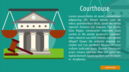 courthouse: Courthouse Conceptual Banner Illustration