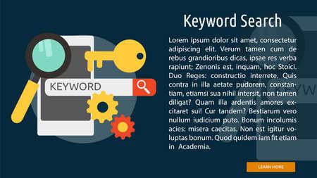 Keyword Search Conceptual Banner