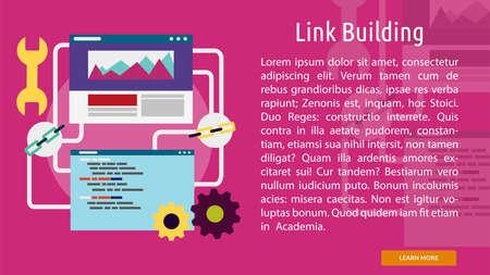 Link Building Conceptual Banner