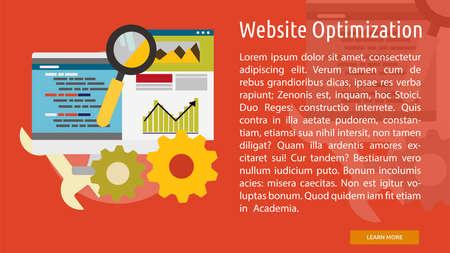 Website Optimization Conceptual Banner