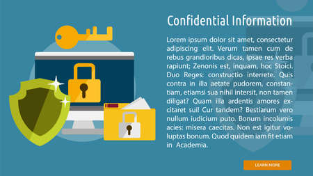 Confidential Information Conceptual Banner Ilustrace