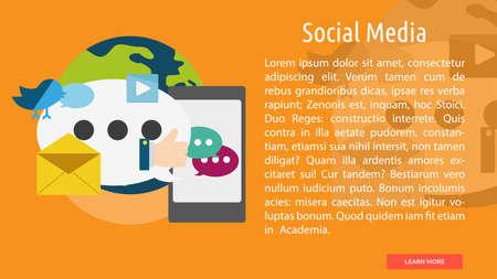 Social Media Conceptual Banner