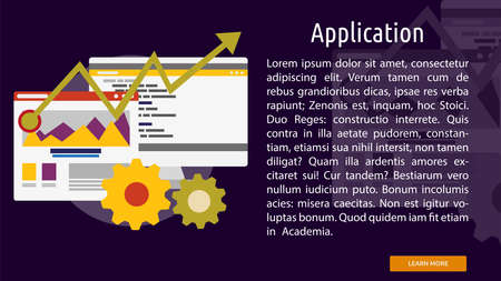 Application Conceptuele Banner Stock Illustratie