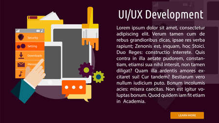 UI UX Development Conceptuele Banner Stock Illustratie
