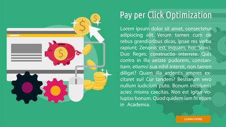 Pay Per Click Optimization Conceptual Banner Çizim