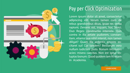 Pay Per Click Optimization Conceptuele Banner