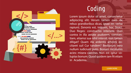 Coding and Programming Conceptual Banner