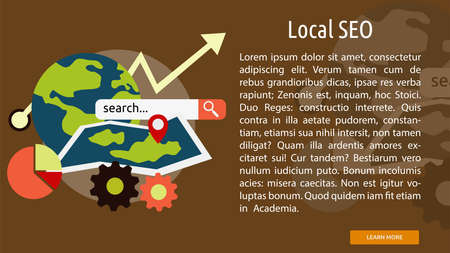 seo: Local Seo Conceptual Banner Illustration
