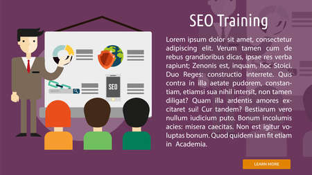 Seo Training Conceptual Banner