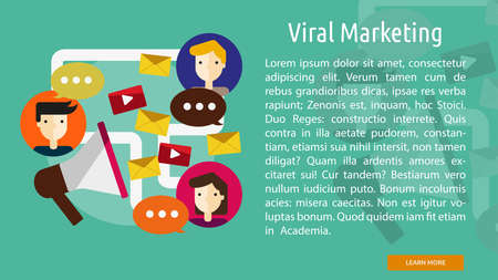 Viral Marketing Conceptuele Banner