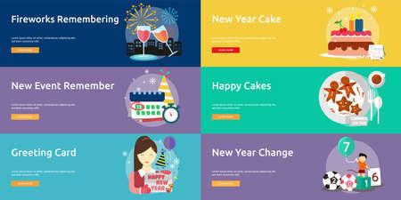 new year celebration: Celebration Happy New Year Conceptual Design Illustration