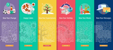 happy new year banner: Celebration Happy New Year Vertical Banner Concept