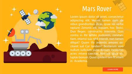Mars Rover Conceptuele Banner