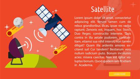 satelite: Satelite Conceptual Banner Illustration