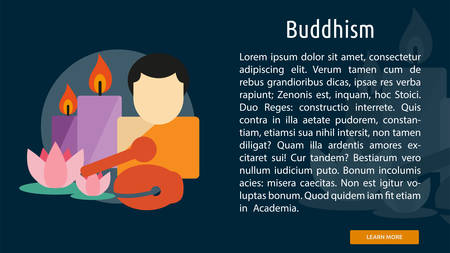 buddhism: Buddhism Conceptual Banner