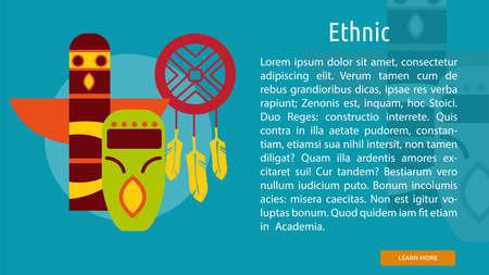 Ethnic Conceptual Banner Ilustração