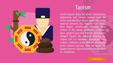 Taoïsme Bannière conceptuel