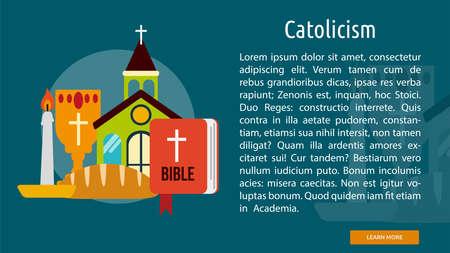 Catholicism Conceptual Banner