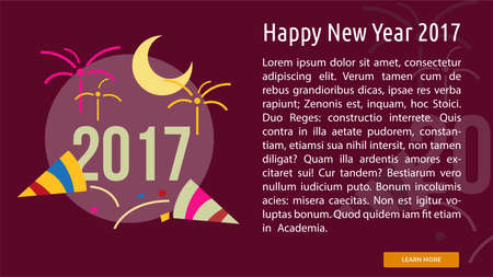 Happy New Year 2017 Conceptual Banner