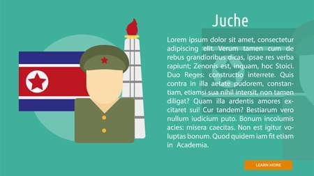 Juche Conceptual Banner Çizim