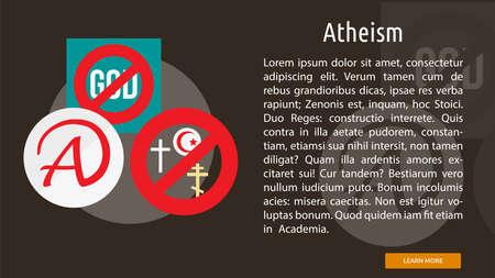 Atheism Conceptual Banner