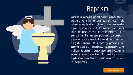 Baptism Conceptual Banner