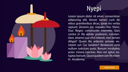Nyepi Conceptual Banner Illustration