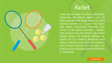 Racket Conceptual Banner Çizim