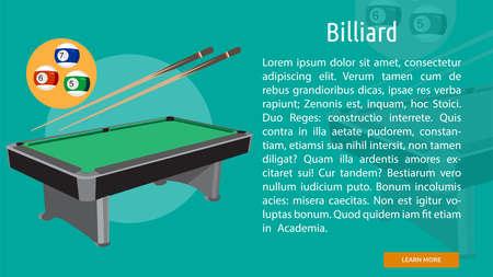 Biliard Conceptual Banner