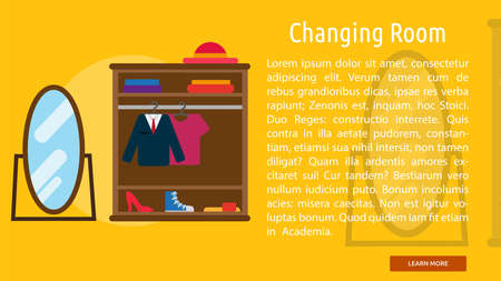 changing room: Changing Room Conceptual Banner