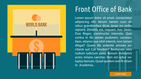 front office: Front Office of Bank Conceptual Banner