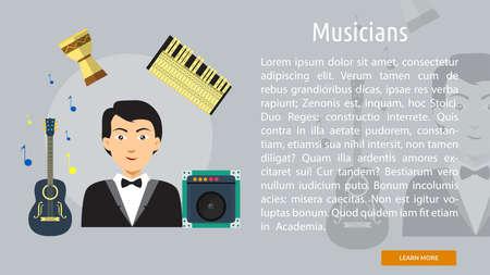 musicians: Musicians Conceptual Banner