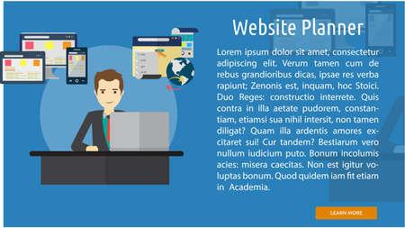planner: Website Planner Conceptual Banner