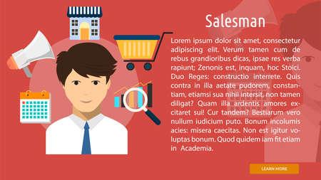 salesman: Salesman Conceptual Banner