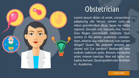 obstetrician: Obstetrician Conceptual Banner