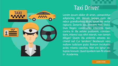 Taxi Driver Conceptual Banner Illustration