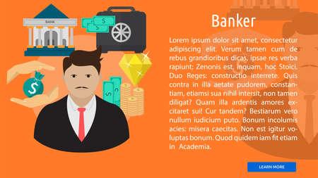 Banker Conceptual Banner
