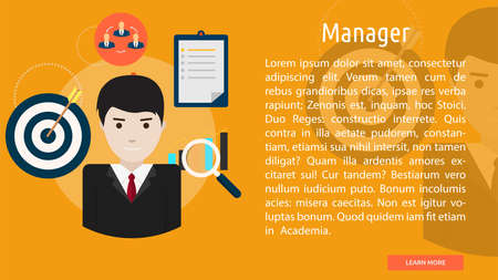 manager: Manager Conceptual Banner Illustration