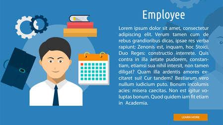 job deadline: Employee Conceptual Banner