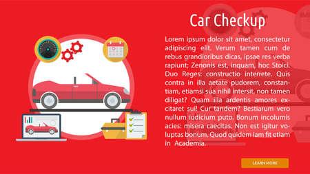 checkup: Car Checkup Conceptual Banner