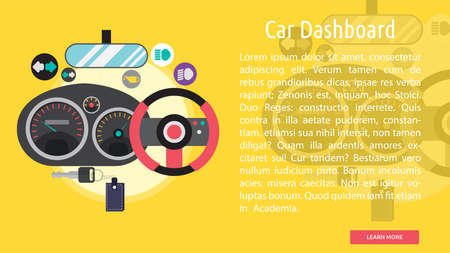 rearview: Car Dashboard Conceptual Banner