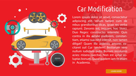 modification: Car Modification Conceptual Banner